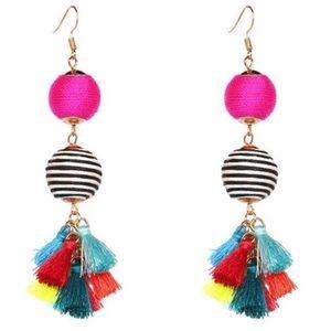 "🌈""Rainbow Sapphire""🌈 Tassel Earrings"